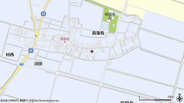 山形県東田川郡庄内町家根合菖蒲島97周辺の地図