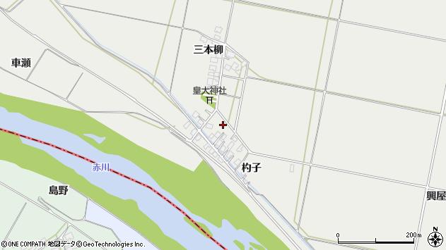山形県酒田市広野杓子55周辺の地図