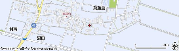 山形県東田川郡庄内町家根合菖蒲島104周辺の地図