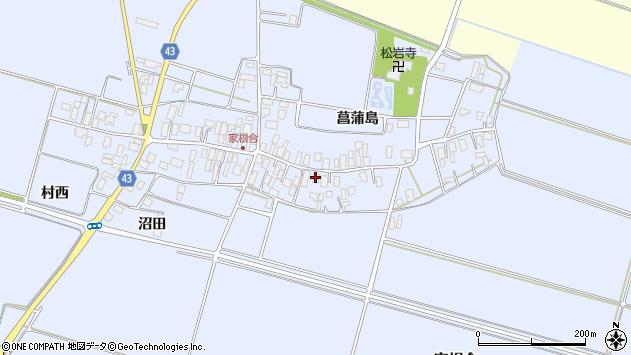 山形県東田川郡庄内町家根合菖蒲島105周辺の地図