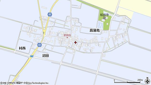 山形県東田川郡庄内町家根合菖蒲島124周辺の地図