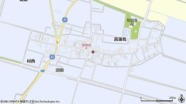 山形県東田川郡庄内町家根合菖蒲島126周辺の地図