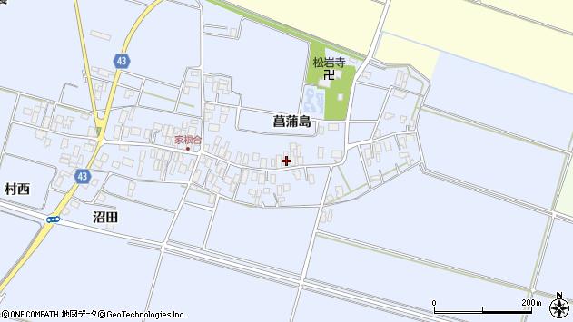 山形県東田川郡庄内町家根合菖蒲島94周辺の地図