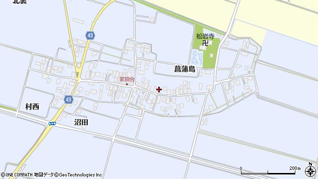山形県東田川郡庄内町家根合菖蒲島109周辺の地図