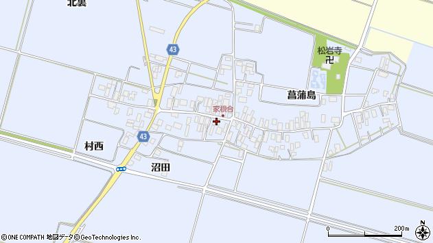 山形県東田川郡庄内町家根合菖蒲島137周辺の地図
