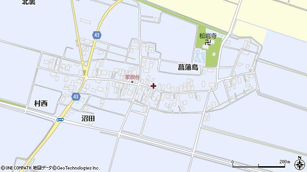 山形県東田川郡庄内町家根合菖蒲島120周辺の地図