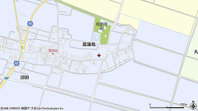 山形県東田川郡庄内町家根合菖蒲島79周辺の地図