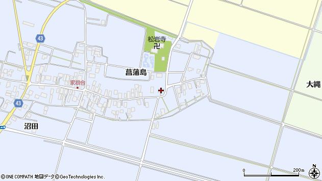 山形県東田川郡庄内町家根合菖蒲島75周辺の地図