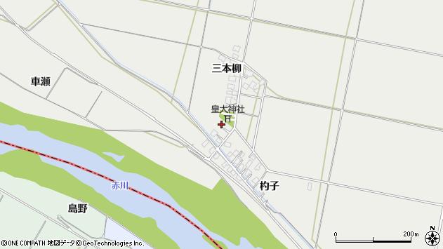 山形県酒田市広野三本柳周辺の地図