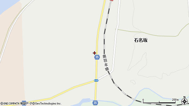 山形県最上郡鮭川村石名坂259周辺の地図