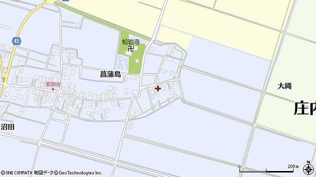 山形県東田川郡庄内町家根合菖蒲島4周辺の地図