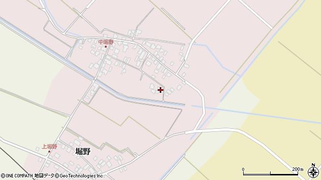 山形県東田川郡庄内町堀野中堀野109周辺の地図