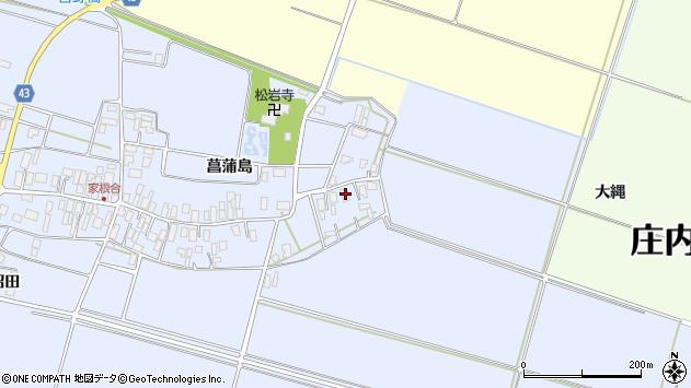 山形県東田川郡庄内町家根合菖蒲島3周辺の地図
