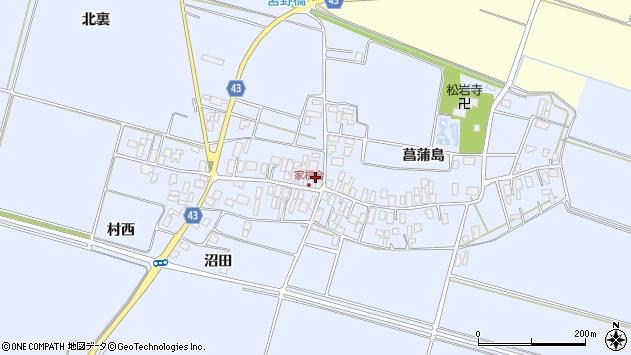 山形県東田川郡庄内町家根合菖蒲島135周辺の地図