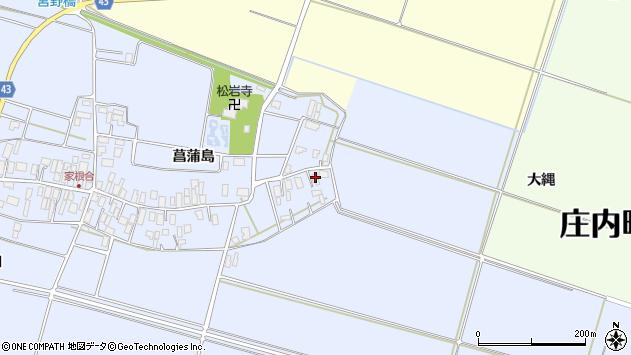 山形県東田川郡庄内町家根合菖蒲島2周辺の地図