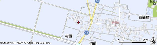 山形県東田川郡庄内町家根合菖蒲島177周辺の地図