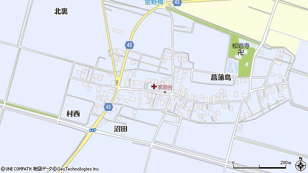 山形県東田川郡庄内町家根合菖蒲島141周辺の地図