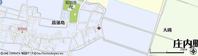 山形県東田川郡庄内町家根合菖蒲島1周辺の地図