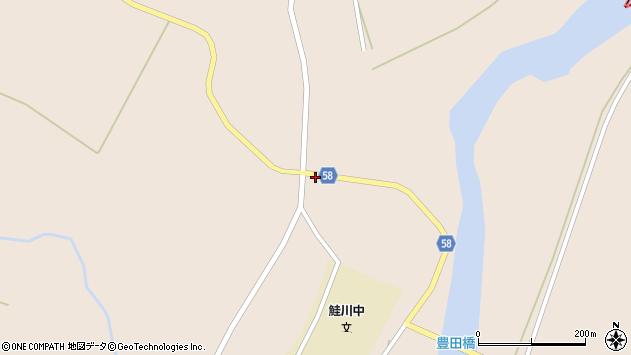 山形県最上郡鮭川村庭月3621周辺の地図
