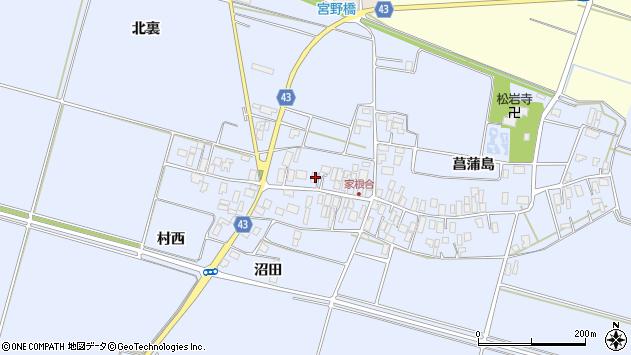 山形県東田川郡庄内町家根合菖蒲島151周辺の地図