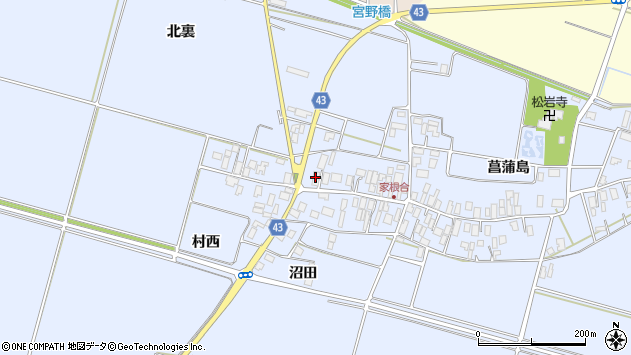 山形県東田川郡庄内町家根合菖蒲島161周辺の地図