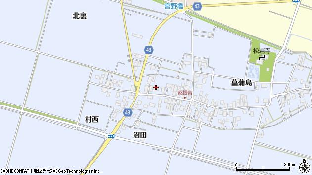 山形県東田川郡庄内町家根合菖蒲島156周辺の地図