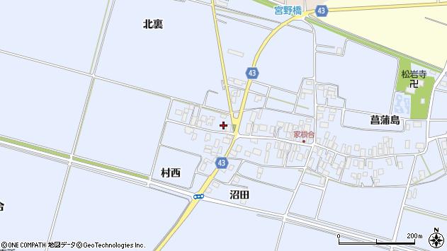 山形県東田川郡庄内町家根合菖蒲島267周辺の地図