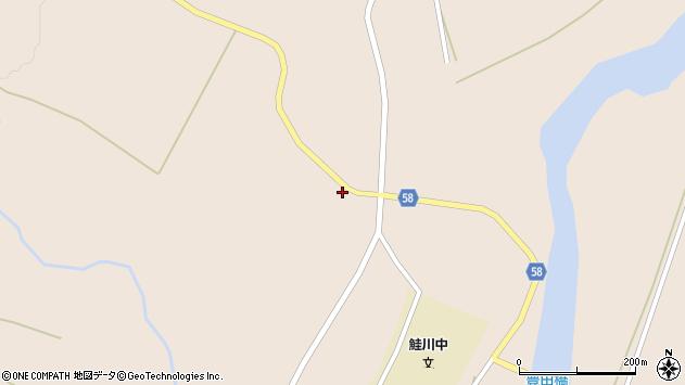山形県最上郡鮭川村庭月3555周辺の地図