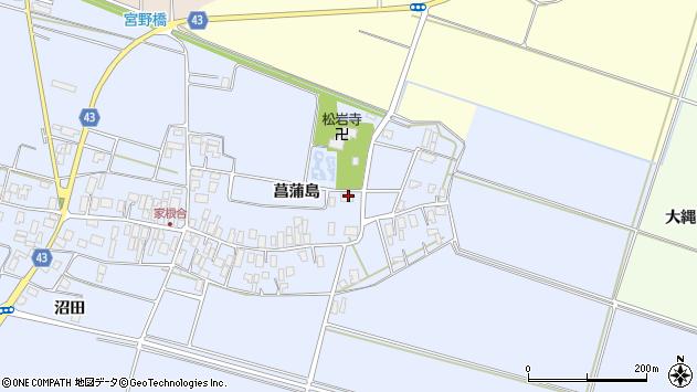 山形県東田川郡庄内町家根合菖蒲島74周辺の地図