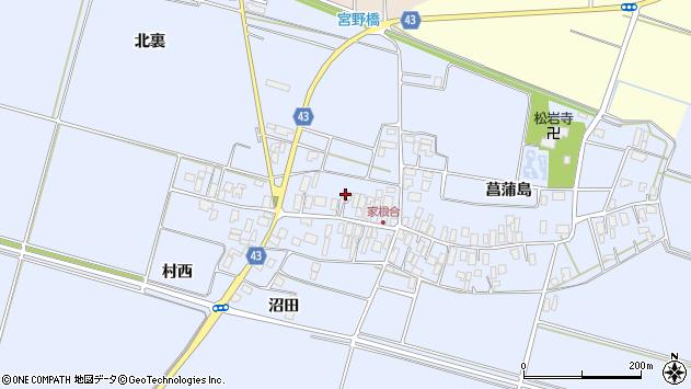 山形県東田川郡庄内町家根合菖蒲島147周辺の地図