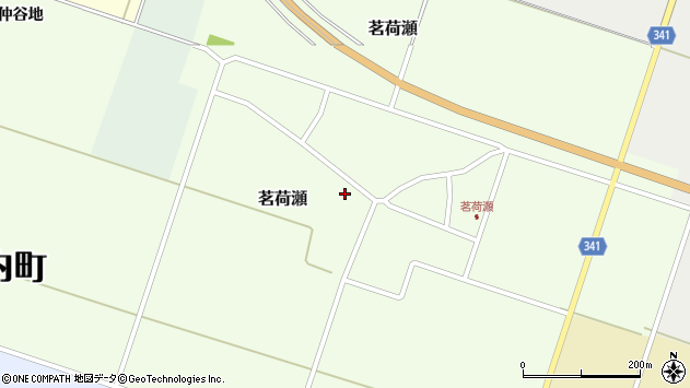 山形県東田川郡庄内町茗荷瀬岡田49周辺の地図