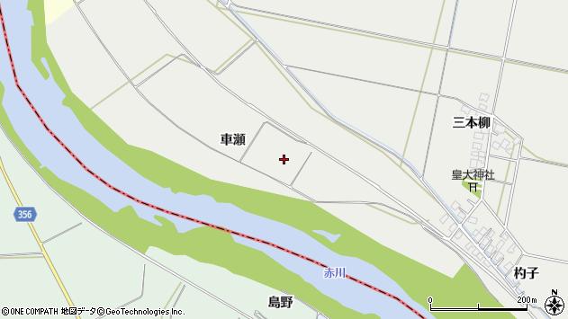 山形県酒田市広野車瀬周辺の地図