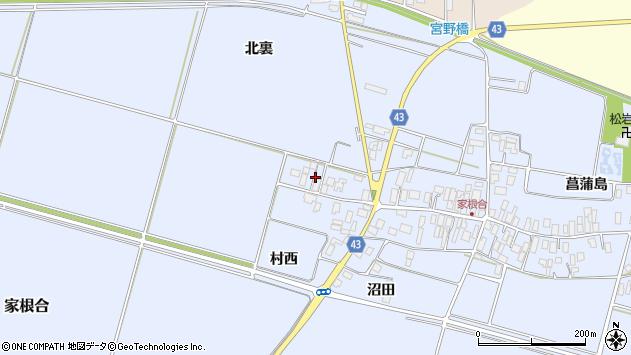 山形県東田川郡庄内町家根合菖蒲島184周辺の地図