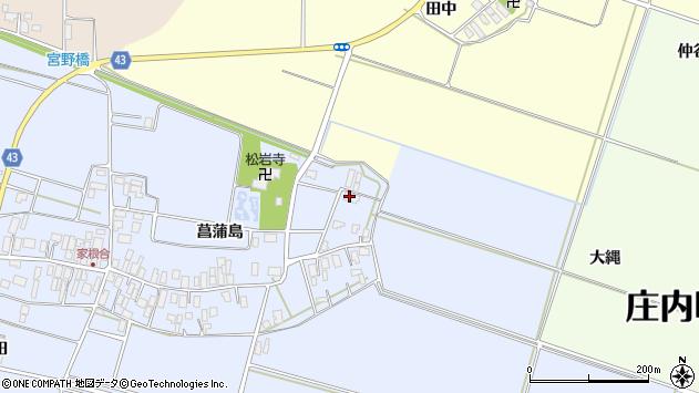 山形県東田川郡庄内町家根合菖蒲島11周辺の地図