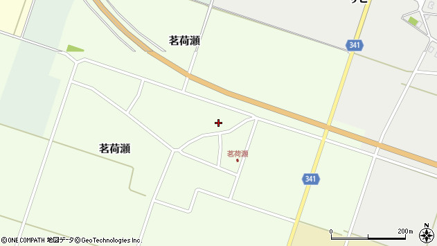 山形県東田川郡庄内町茗荷瀬岡田6周辺の地図