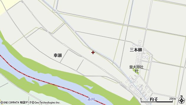 山形県酒田市広野新田車瀬周辺の地図