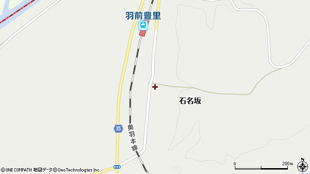 山形県最上郡鮭川村石名坂28周辺の地図