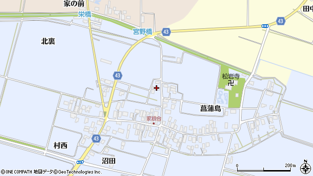 山形県東田川郡庄内町家根合北裏30周辺の地図