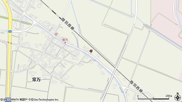 山形県東田川郡庄内町常万東大乗向周辺の地図