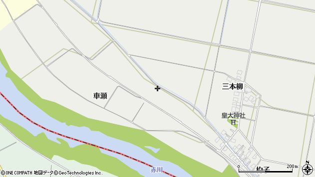 山形県酒田市広野新田周辺の地図