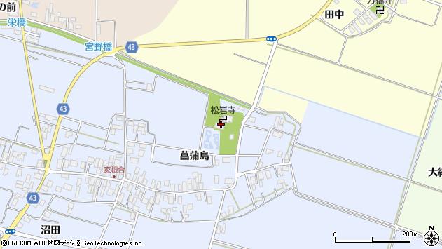 山形県東田川郡庄内町家根合菖蒲島70周辺の地図