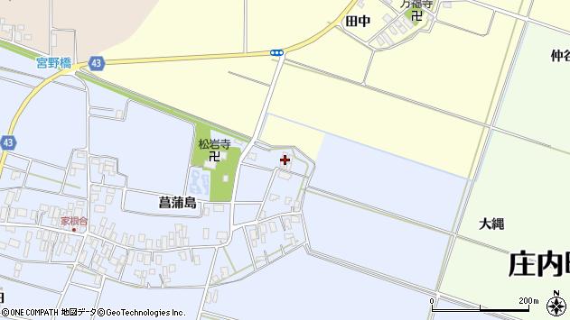山形県東田川郡庄内町家根合菖蒲島16周辺の地図