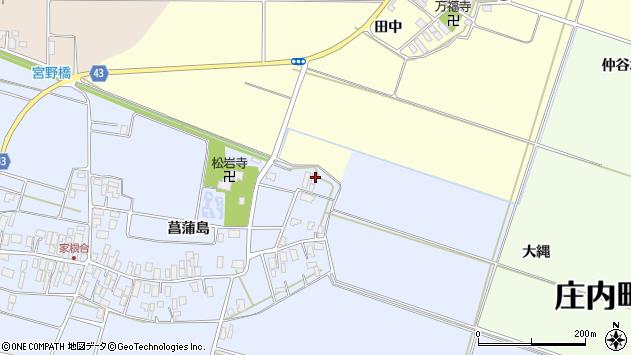 山形県東田川郡庄内町家根合菖蒲島15周辺の地図