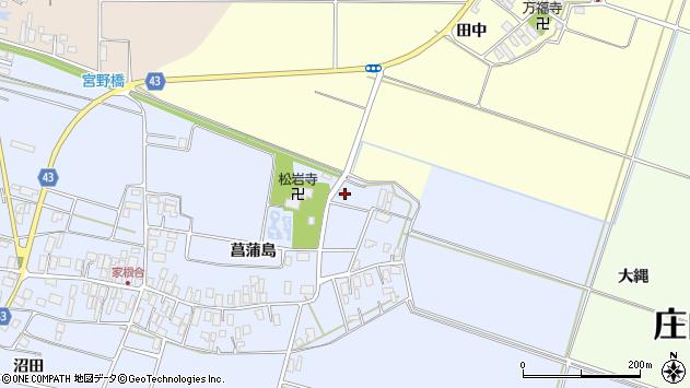 山形県東田川郡庄内町家根合菖蒲島7周辺の地図