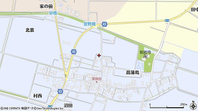 山形県東田川郡庄内町家根合北裏27周辺の地図