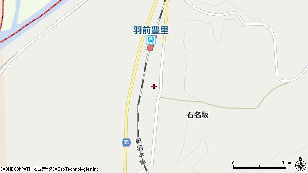 山形県最上郡鮭川村石名坂58周辺の地図