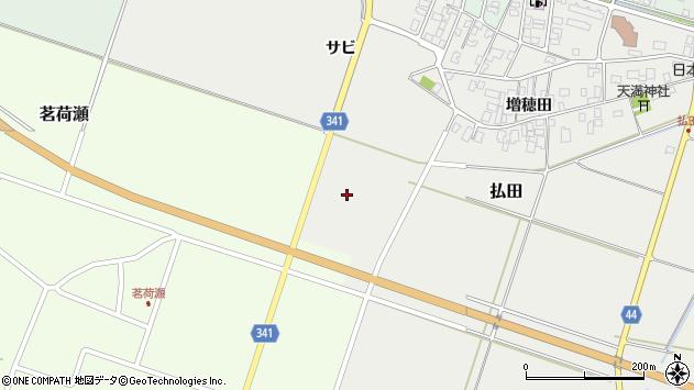 山形県東田川郡庄内町払田掃部裏周辺の地図