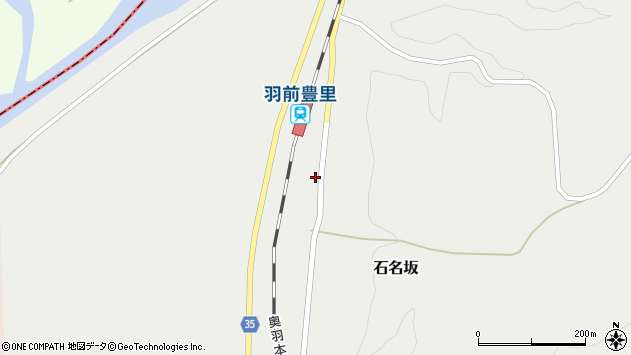 山形県最上郡鮭川村石名坂周辺の地図