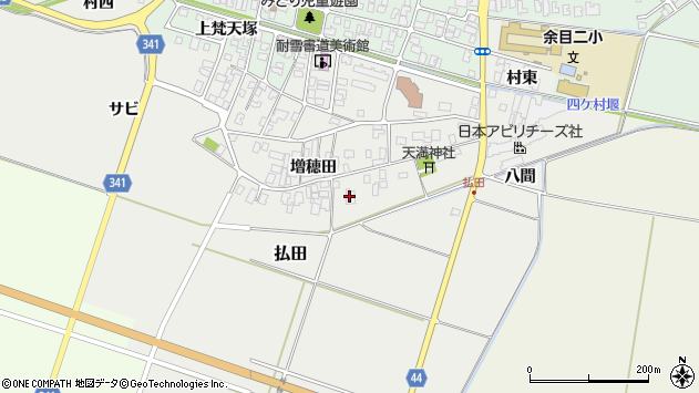 山形県東田川郡庄内町払田増穂田29周辺の地図