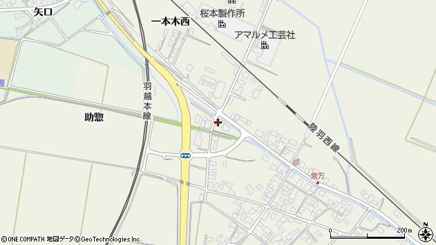 山形県東田川郡庄内町常万助惣1周辺の地図